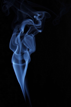 Image of beautiful woman made of fume photo