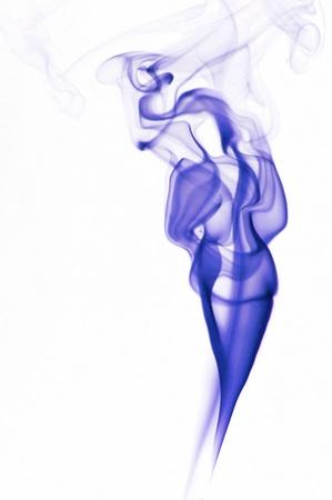 wisp: Image of beautiful woman made of fume Stock Photo