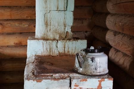 chimney corner: Horno de ladrillo en una esquina
