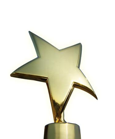 Star award isolated over white  免版税图像