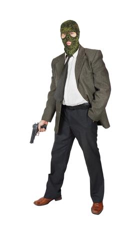 mafioso: Mafioso with a pistol Stock Photo
