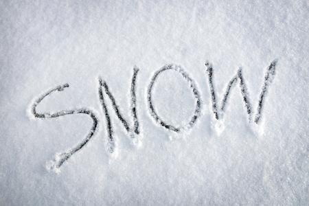Inscription Snow made on the snow