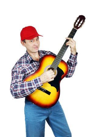 Adult man playing the guitar Stock Photo - 24466818