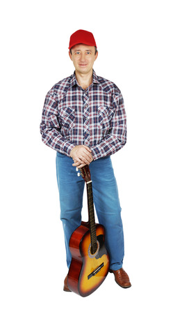 Adult man with a guitar Stock Photo - 24466823
