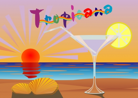tropicana: Concept of vacation at a resort in the tropics Illustration