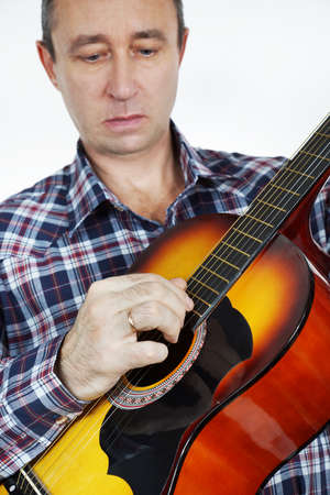 Gitarist playing guitar Stock Photo - 24512791