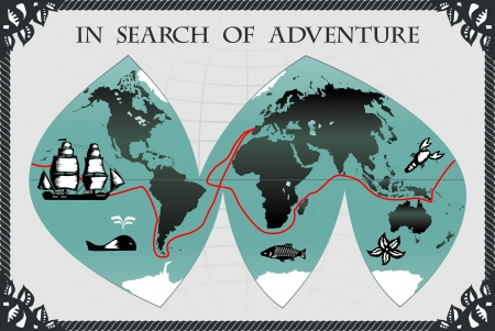 In search of adventure Vector