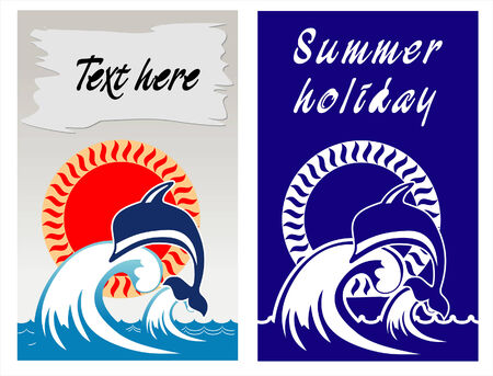 vocation: Vector editable image about summer vocation on the seaside