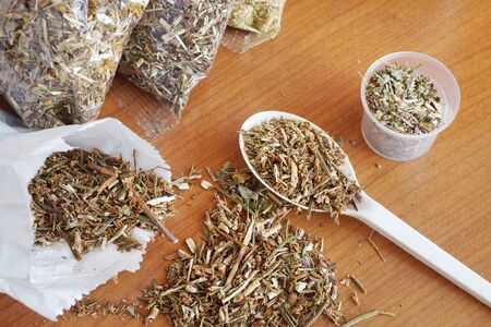 Phytotherapy. Dried medicinal herbs