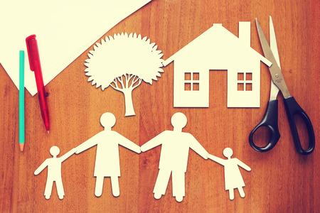 Concept of happy family photo