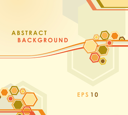 geometrical shapes: Abstract vector editable background with geometrical shapes