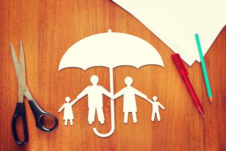 Concept de l'assurance-vie Banque d'images