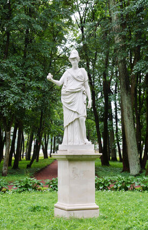 grassplot: Antique statue in the park in Gatchina, town near Saint Petersburg, Russia