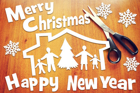 Concept of New Year and Christmas holidays photo