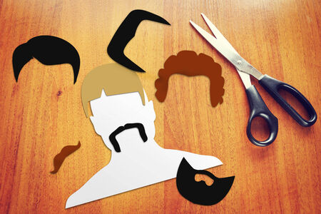Concept of different haircuts Stock Photo