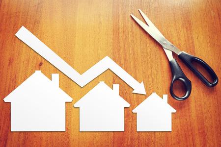 Concept of real estate sales drop 免版税图像