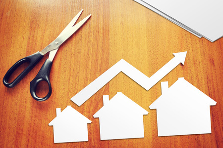 Concept of growth in sales of real estate 免版税图像