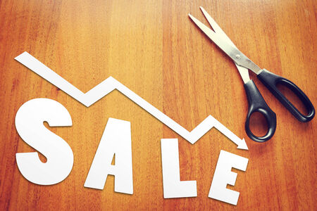 Concept of  sales falling photo