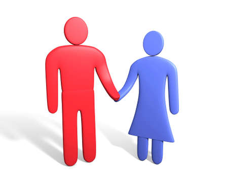 sexes: Abstract human couple. Conception of relationships between sexes
