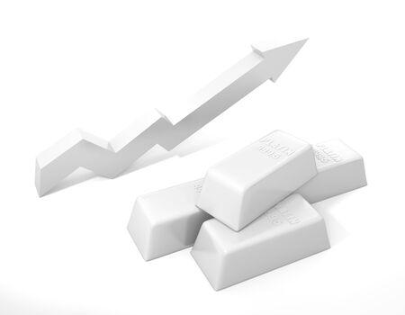 rising prices: Platinum bullion. Rising prices for platinum