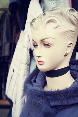 Mannequins in the clothing market