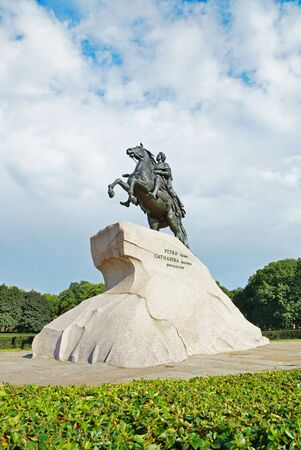 peter the great: Monument of Russian emperor Peter the Great, known as The Bronze Horseman, Saint Petersburg , Russia
