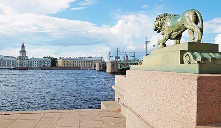 neva: On the Neva riverbank, Saint-Petersburg, Russia Editorial