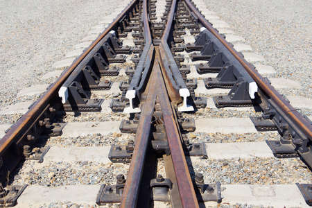 mound: Railway fork on the gravel mound