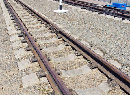 mound: Railway track on the gravel mound