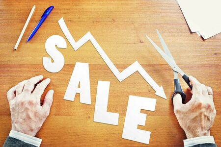 indices: Decrease of sales. Abstract conceptual image Stock Photo