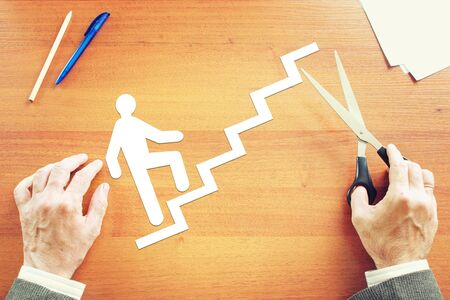 career life: Career planning in life. Abstract conceptual image Stock Photo