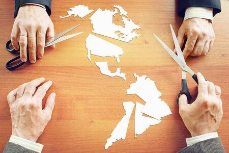 continente americano: Concepto de cambio de las condiciones políticas en continente americano
