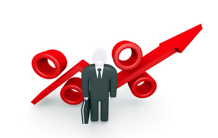 parameter: Conceptual image about the growth parameters and abstract figure of businessman