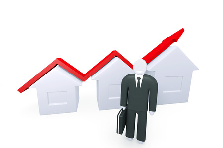 real estate growth: Conceptual image about the growth of real estate sales
