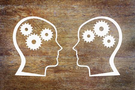 psicologia: Psicología de la conciencia humana. Imagen conceptual abstracta Foto de archivo