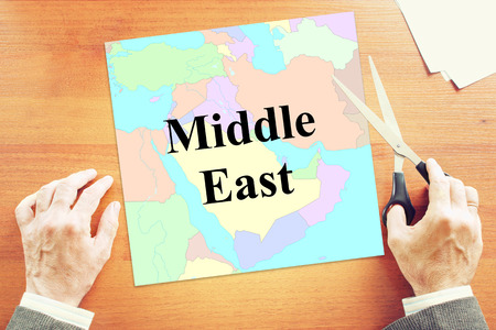 middle east crisis: Political crisis in Middle East. Abstract conceptual image