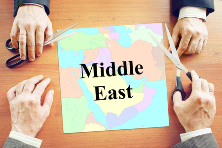 middle east crisis: Political crisis in Middle East region. Abstract conceptual image