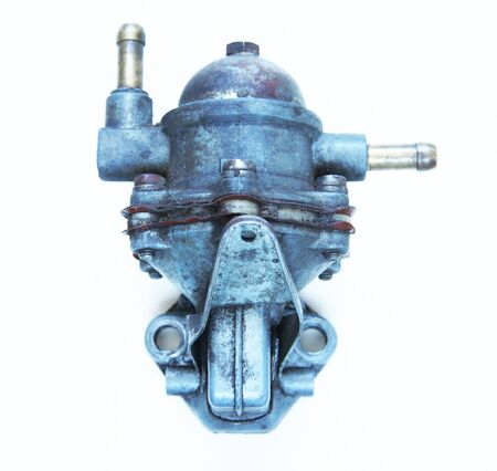 petrol pump: Automobile petrol pump on light background