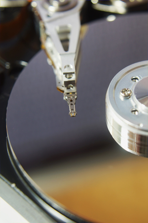 device disc: Close up of hard disk drive Stock Photo