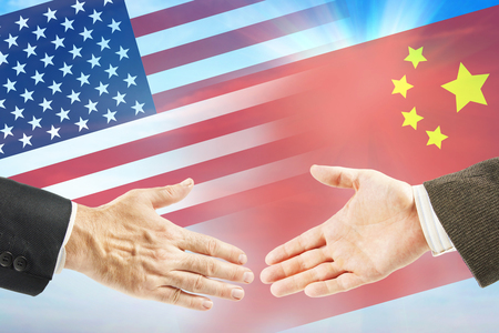 Friendly relations between United States and China. International policy and diplomacy