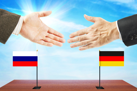 Concept of friendly talks between Russia and Germany. Diplomacy and international policy
