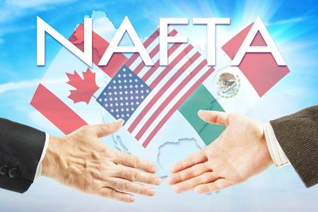 relaciones humanas: Concepto del TLC. Estados Unidos Canadá México asociación de comercio