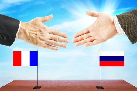 Friendly relations between France and Russia. Concept of talks and diplomacy
