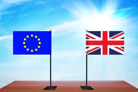 conversaciones: Concepto de conversaciones diplomáticas entre la Unión Europea y Gran Bretaña