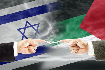 Confrontation and enmity between Israel and Palestine. Conflict and stress in the international policy