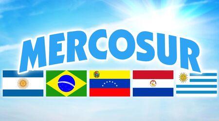 MERCOSUR. Alliance politique et économique de certains pays d'Amérique du Sud Banque d'images