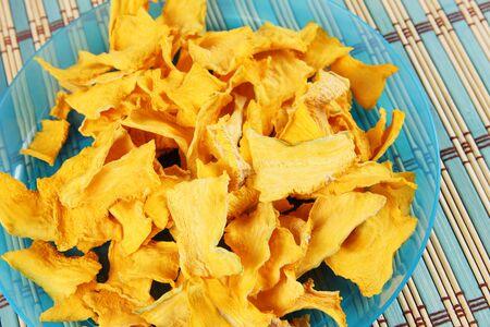 Vegetable chips made of pumpkin. Healthy dietary food
