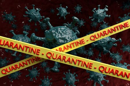 Quarantine and Coronavirus Covid-19. Conceptual image