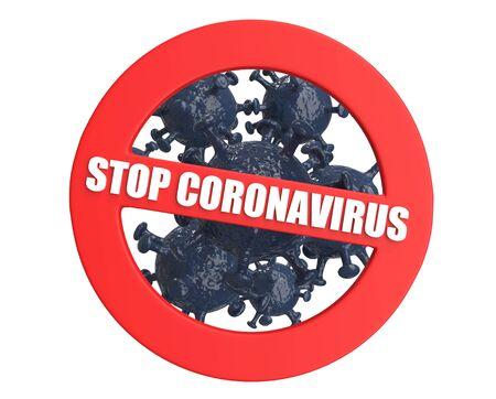 Sign Stop Coronavirus isolated on white background