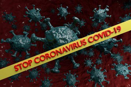 Stop Coronavirus Covid-19. Conceptual image 免版税图像